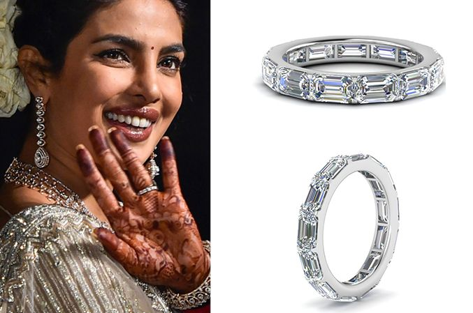 Priyanka Chopra S Platinum Wedding Rings Platinum Wedding Rings
