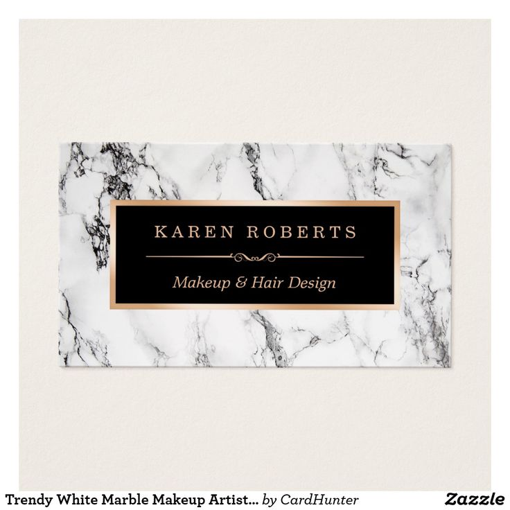 295 best zazzle business cards images on pinterest business cards personalize a business card to be uniquely yours with this trendy white marble makeup artist hair wajeb Images