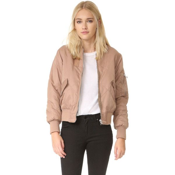 Whistles Carter Reversible Bomber Jacket ($280) ❤ liked on Polyvore featuring outerwear, jackets, reversible jacket, lined bomber jacket, reversible quilted jacket, whistles jacket and long sleeve jacket
