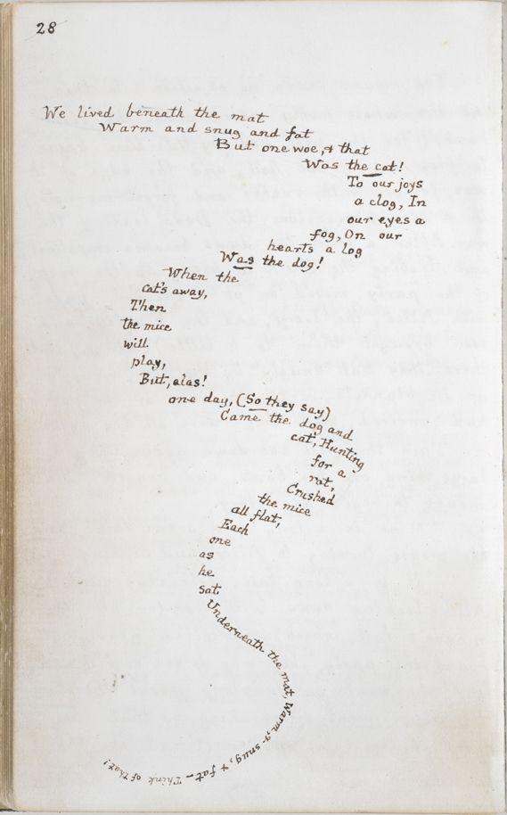 Alice's Adventures Under Ground. Page from Lewis Carroll's original (handwritten) manuscript