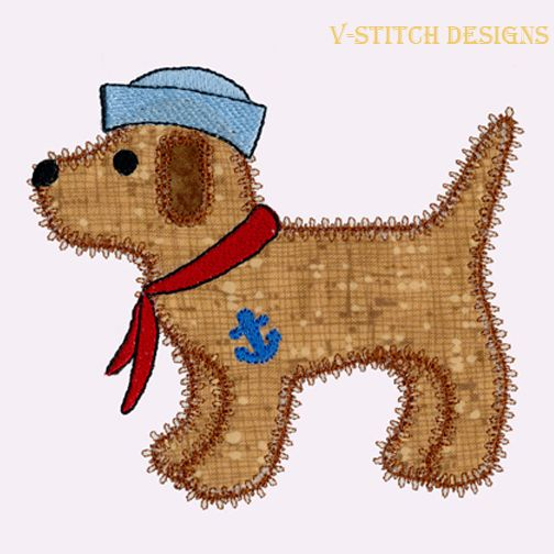 Rug Dogs Embroidery Designs: Dog Single 3 Applique Machine Embroidery Design. Instant