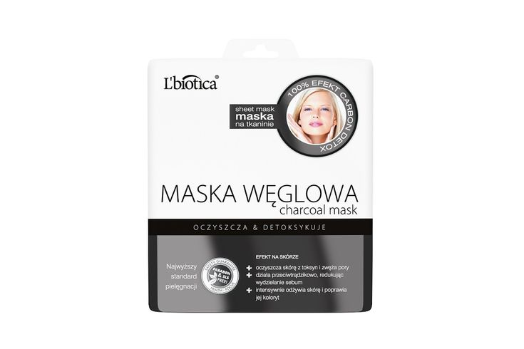 MASKA WĘGLOWA L'biotica #nowość #maskawęglowa #natkaninie #lbiotica