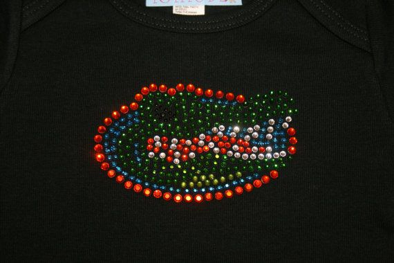 Univeristy of Florida Gators UF Iron On Rhinestone by foxybaby, $5.00