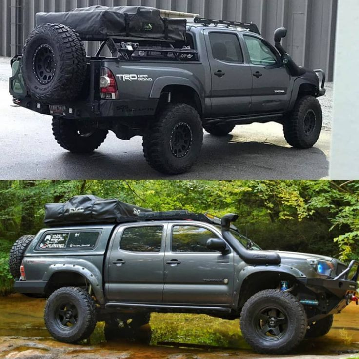 Shell And Bed Slide Vs Bed Rack And Decked Tacoma Truck Toyota Trucks Tacoma Camper Shell