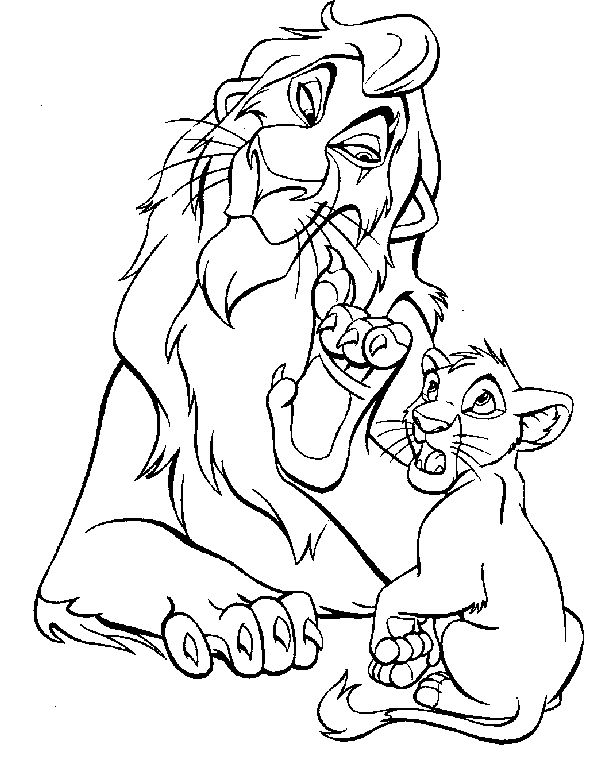 lion king coloring pages scarecrows - photo#23