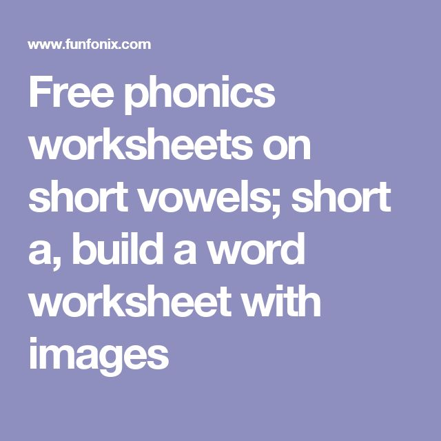 78 Best ideas about Free Phonics Worksheets on Pinterest | Phonics ...