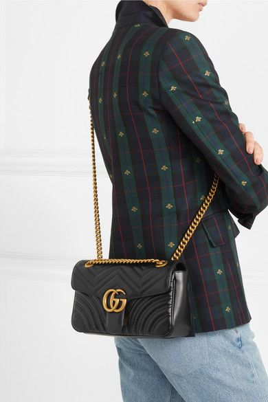 a9a370394e1b8f Gucci | GG Marmont small quilted leather shoulder bag | NET-A-PORTER.COM