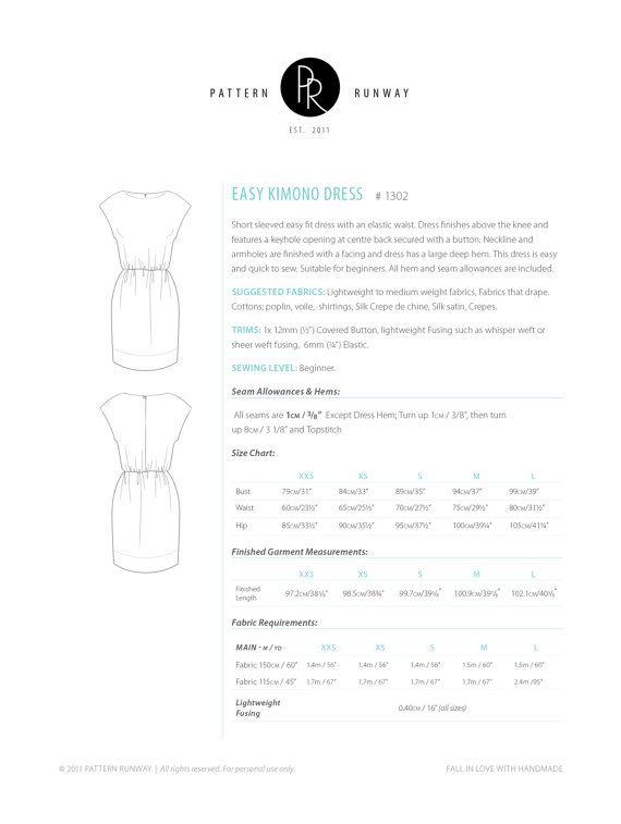 Easy Short Sleeved Dress Pattern Elastic Waist by PatternRunway