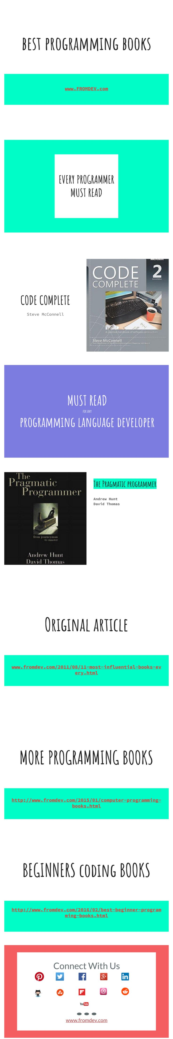 Best 10 programming images on pinterest coding programming and 2 absolute must read programming books for programmers fandeluxe Images