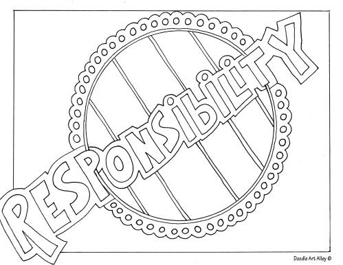 responsibility coloring pages - photo#2