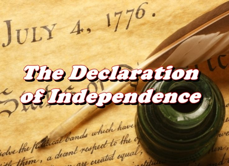 preamble to the declaration of independence pdf