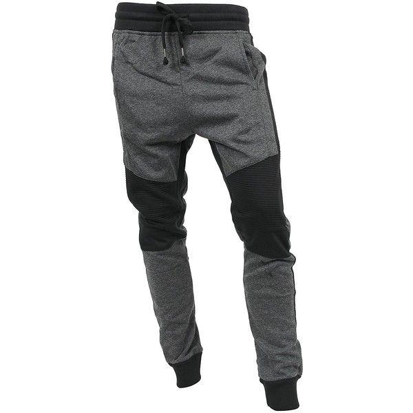 Hat and Beyond VW Mens Jogger Pants Biker Slim Fit Casual Fleece... ($16) ❤ liked on Polyvore featuring men's fashion, men's clothing, men's activewear, men's activewear pants, urban sportswear and bike sportswear