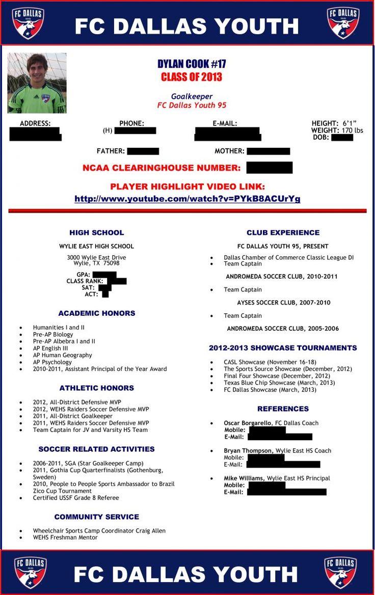 soccer player profile sample 1