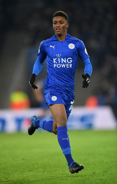 Demarai Gray of Leicester City in action during the Premier League match between Leicester City and Manchester United at The King Power Stadium on February 5, 2017 in Leicester, England.