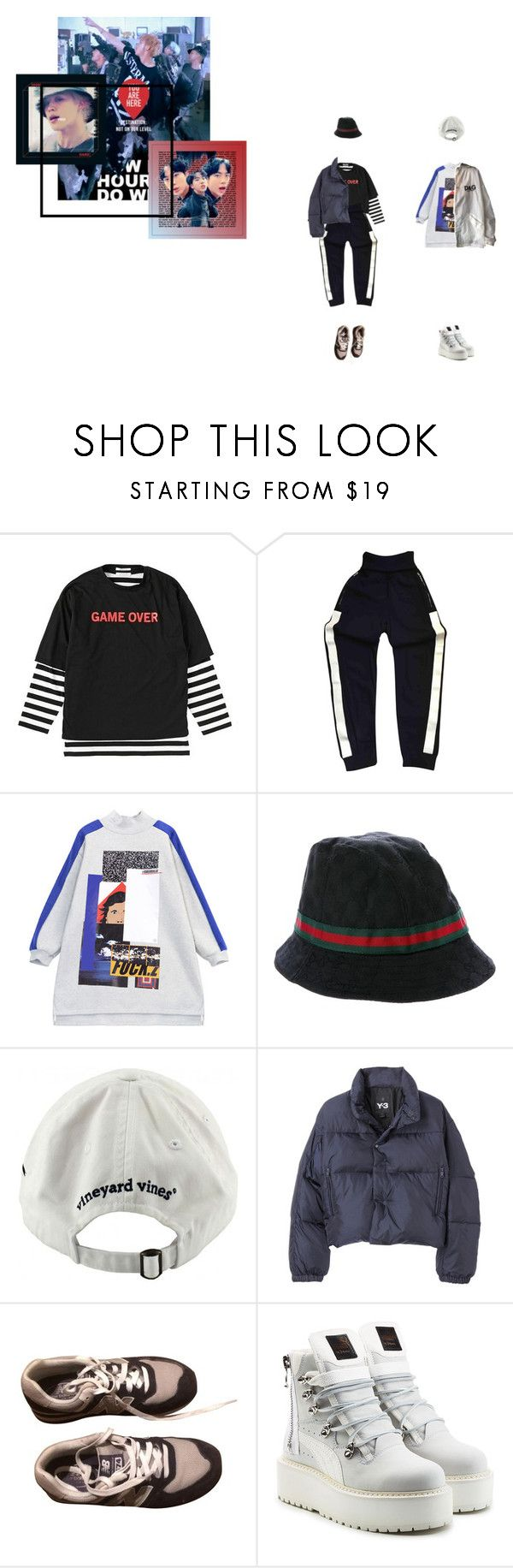 """m 3 c d r 3 p"" by floralian ❤ liked on Polyvore featuring Chanel, Chicnova Fashion, Gucci, Vineyard Vines, Y-3, New Balance and Puma"