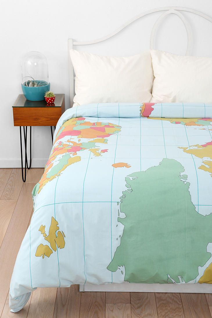 Map Duvet Cover #urbanoutfitters