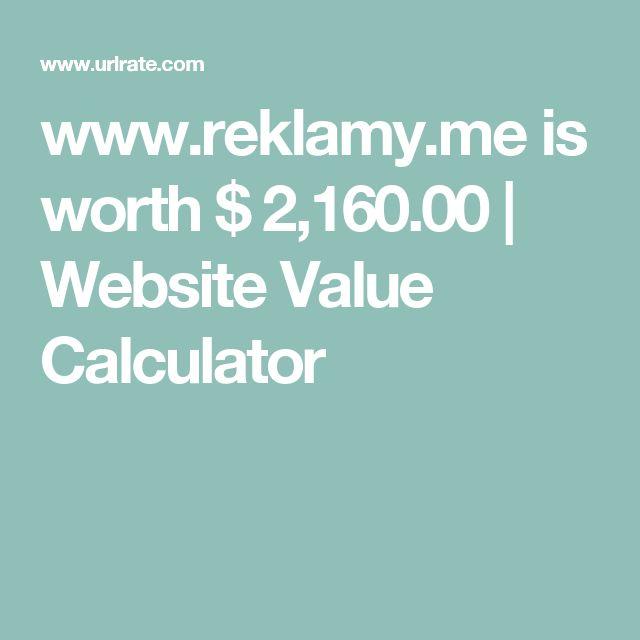 www.reklamy.me is worth $ 2,160.00 | Website Value Calculator