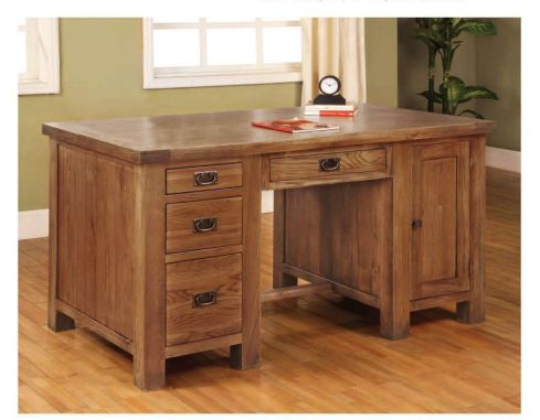 Rustic Oak 4 Drawer 1 Door Desk are resistant to water and it does not get easily stained by tea or oil.  Further info: http://solidwoodfurniture.co/product-details-oak-furnitures-3122-rustic-oak-drawer-door-desk.html