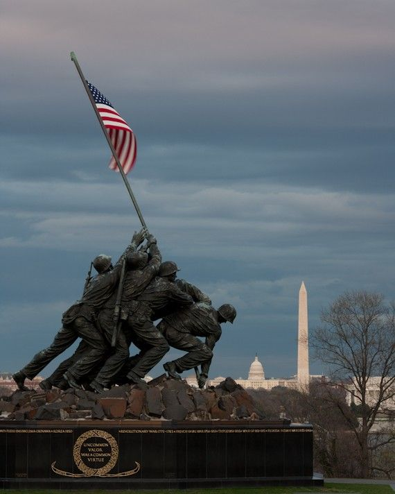 U.S. Marine Corps War Memorial (Iwo Jima Statue) Washington, DC.  I've been here such a cool memorial.
