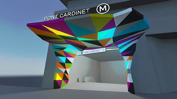 Tobias Rehberger, Project for thee Pont Cardinet Metro Station Courtesy the artist and Emerige