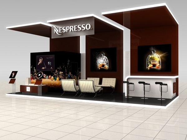 Nespresso Exhibition Stand Design by Katalin Ercsényi, via Behance