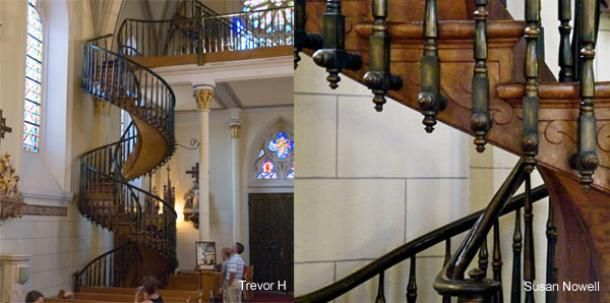The mysterious, miraculous helix staircase of the Loretto Chapel, Santa Fe, New Mexico - Divinely inspired and lovely. Supposedly built by St. Joseph himself!