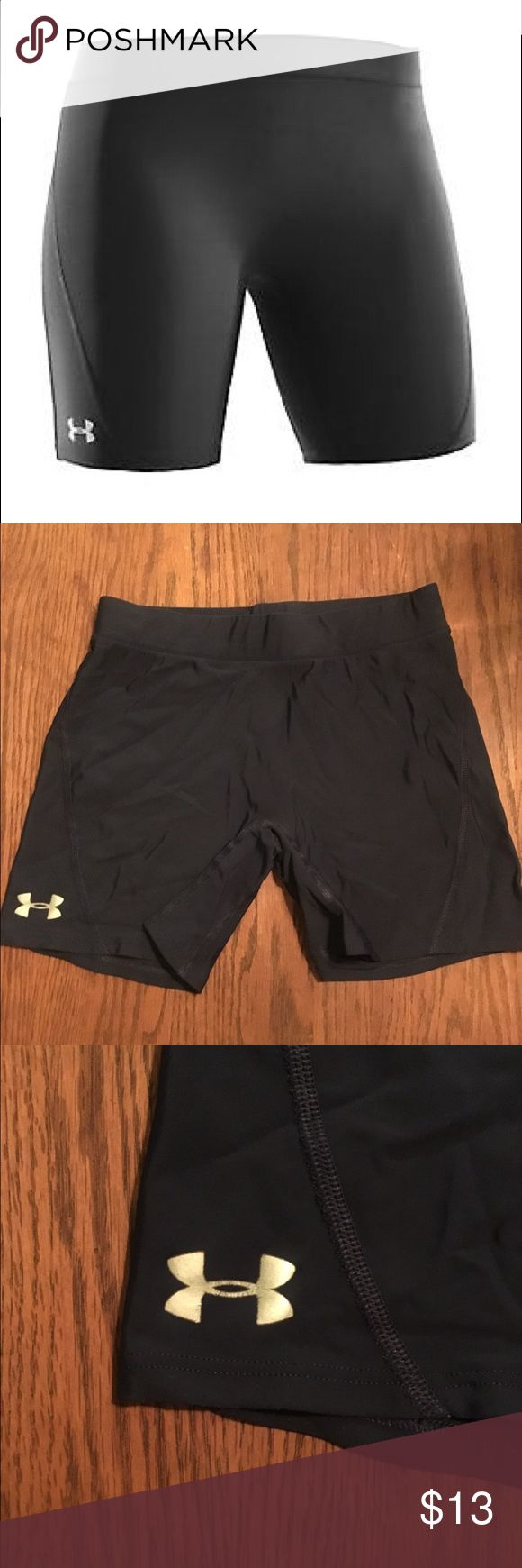 "Selling this Navy Blue Under Armour React 4"" Vollyball Shorts on Poshmark! My username is: ericaaa1. #shopmycloset #poshmark #fashion #shopping #style #forsale #Under Armour #Pants"