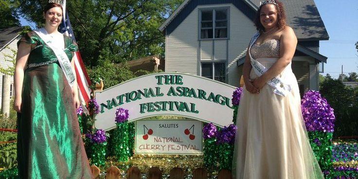 The National Asparagus Festival has best tasting food, worst smelling toilets #travel #roadtrips #roadtrippers