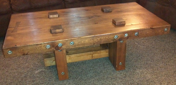 2x4 threaded rod coffee table woodworking projects for Dining room table 2x4