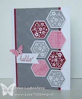 Love To Stamp: Open Huis en workshop kaartje  pretty color/pattern combo