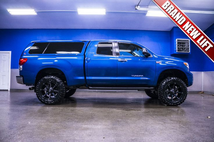 2007 blue toyota tundra with 4 inch lift - Google Search