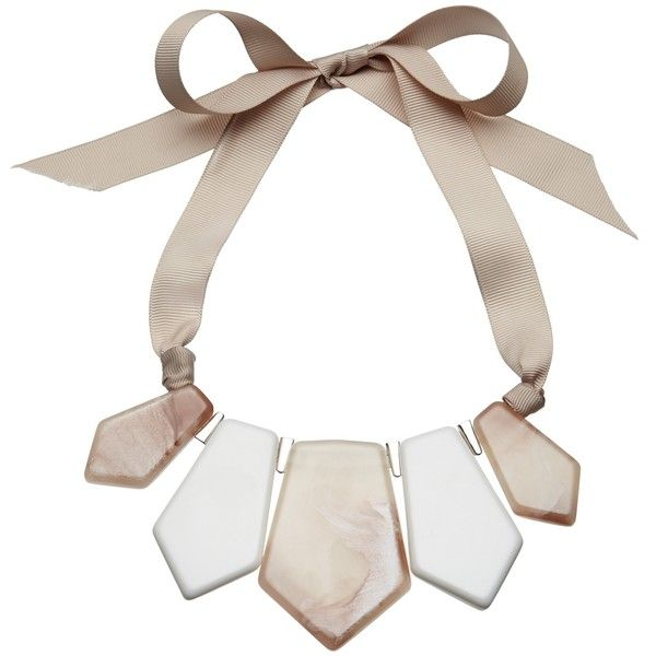 John Lewis Marble Finish Statement Necklace (€16) ❤ liked on Polyvore featuring jewelry, necklaces, john lewis, graduation gift jewelry, adjustable necklace, john lewis jewelry and marble necklace