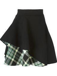 Купить Alexander McQueen юбка с рюшами и клетчатыми вставками.