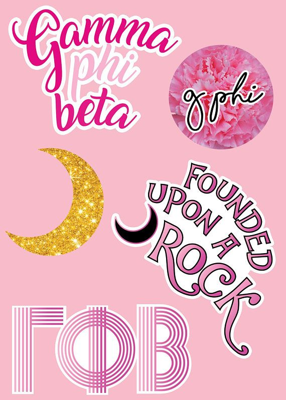54c2341b Gamma Phi Beta Sorority Sticker Sheet! ♥Sticker sheet size is 7x5 ♥High  Quality Prints and Stickers ♥Fast Shipping