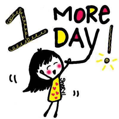 1 Day Left Countdown Countdown yippie!