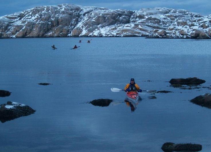 Winter kayaking Fjällbacka with Nautopp Sea kayaking