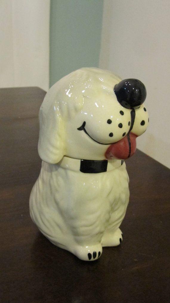 VINTAGE McCOY DAN The DOG Ceramic Pottery Cookie Jar