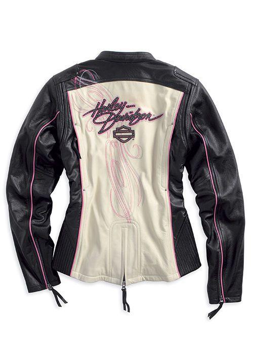 Harley-Davidson® Womens Pink Label *Limited Edition*  Leather Jacket 97010-14VW