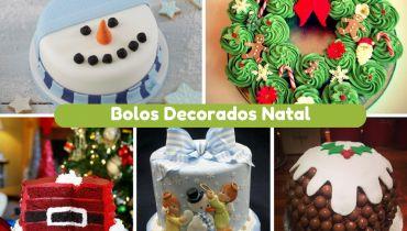 10+ Bolos Decorados de Natal mais Originais