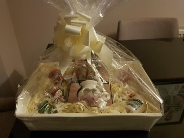 Mini Yankee Candle gift basket complete with oil burner set all gift wrapped