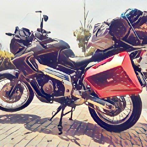 #ready #travel #moto #aprilia #caponord #loaded #heavy  #summertime very #hot  #mirage