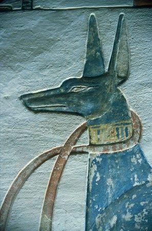 Pharaoh Hound Wall Carving
