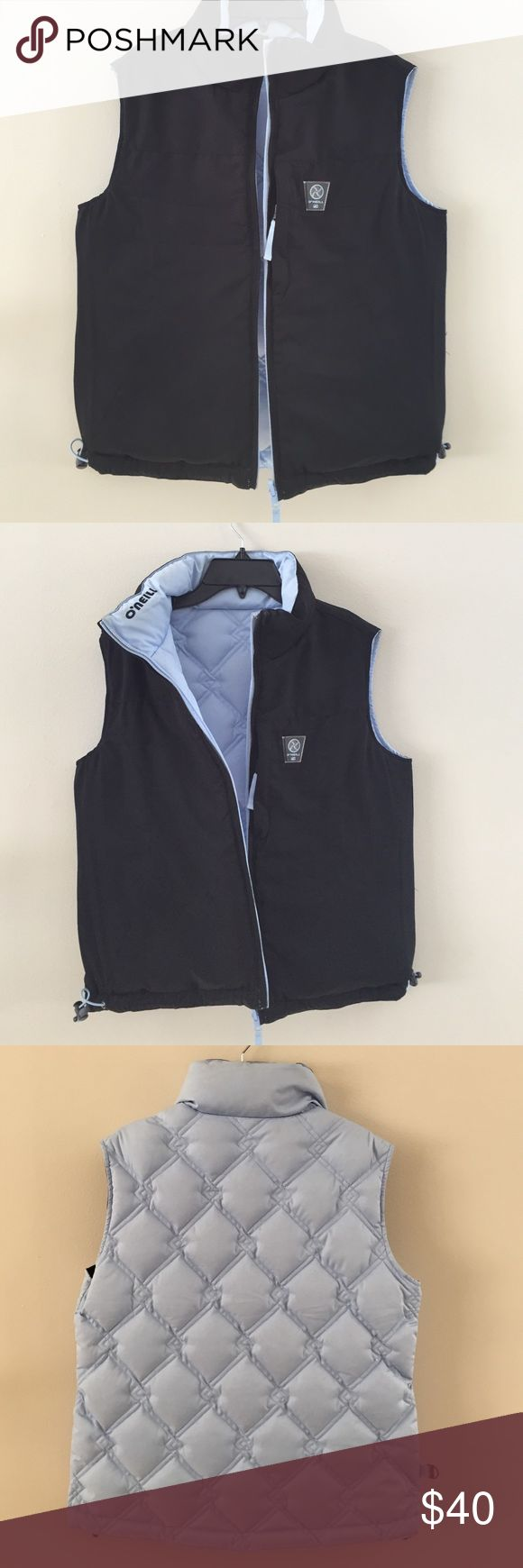 O'Neil Reversible Puff Vest 100% Polyester Shell, Woman's 8, gently worn, great condition, plenty of good wear left. Baby blue and black. O'Neill Jackets & Coats Vests