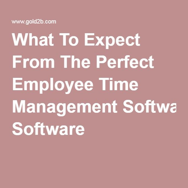 What To Expect From The Perfect Employee Time Management Software