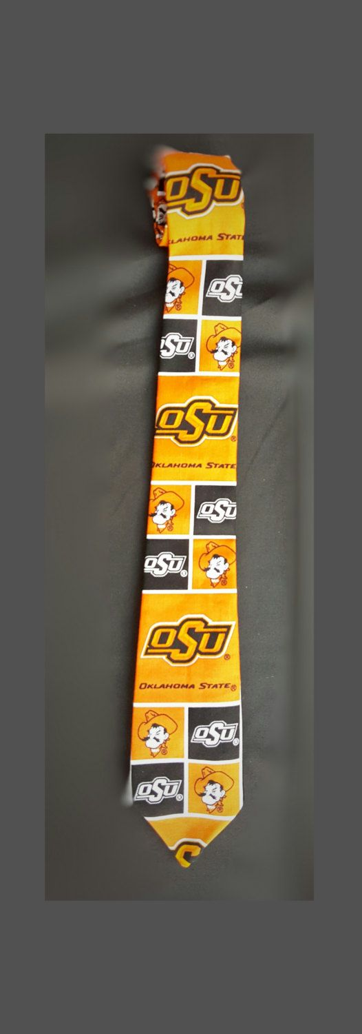 OSU Neck Tie, O State Cowboys Neck Tie, Orange and Black Tie, Adult Ties, Child Ties, OSU Full Length Tie, OSU Velcro Tie by GeekFashionSource on Etsy