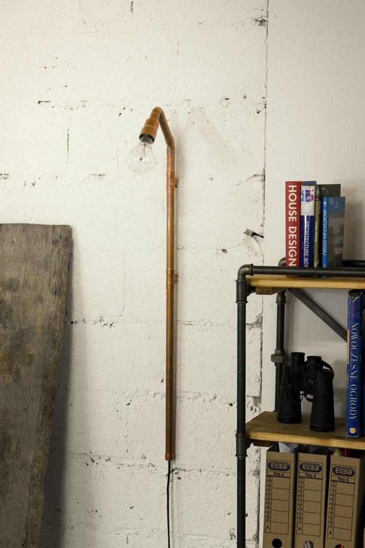 Copper wall lamp Gie El