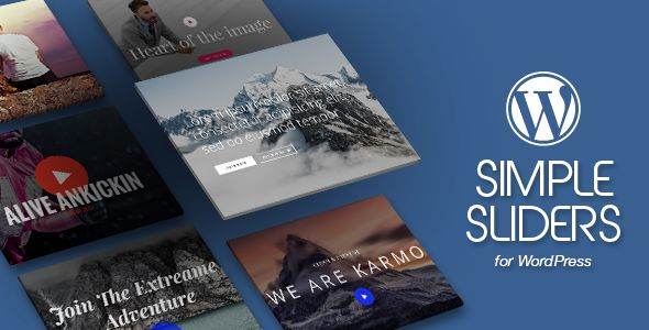 WordPress Simple Sliders Plugin with Layout Builder . The best Simple Sliders pack for WordPress. Choose from 20 different customisable Slider layouts we created just for your needs. This pack is truly awesome and unique in its design and