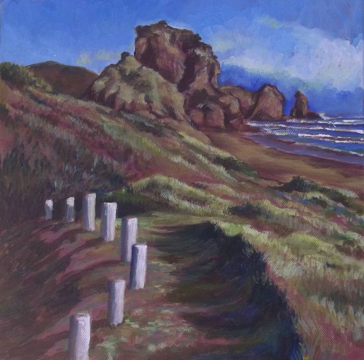 Lion Rock, another view, NZ Acrylic on canvas