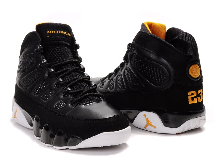 new york 29b11 e8530 ... womens air jordan retro 9 black yellow . ...
