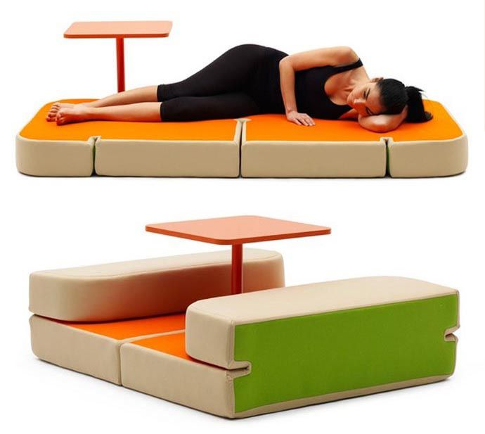 Have Dinner and Sleepovers on the Same Piece of Furniture by Matali Crasset